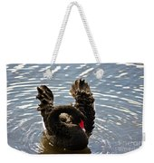 Swan Preening Its Feathers Weekender Tote Bag