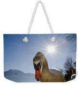 Swan Saying Hello Weekender Tote Bag