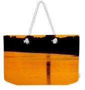 Swan Sunset At The Light Weekender Tote Bag