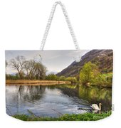 Swan Swimming On A Lake Weekender Tote Bag