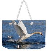 Swan Take Off Weekender Tote Bag