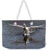 Swan Touches Down Weekender Tote Bag