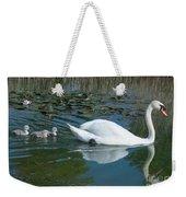 Swan With Cygnets Weekender Tote Bag