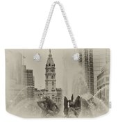Swann Memorial Fountain In Sepia Weekender Tote Bag by Bill Cannon