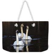 Swans In A Row Weekender Tote Bag