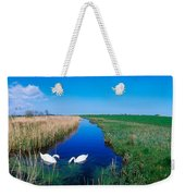Swans On Bog, Near Newcastle, Co Weekender Tote Bag