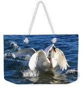 Swans Playing Weekender Tote Bag