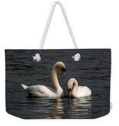 Swans Swimming Weekender Tote Bag