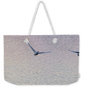 Swans Taking Off From Tagish River Weekender Tote Bag