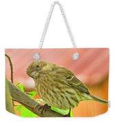 Sweet Finch Painted Effect Weekender Tote Bag
