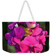 Sweet Pea Pop Out Photoart Square Weekender Tote Bag