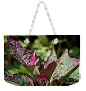 Sweet Potato Vine Weekender Tote Bag