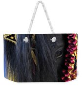 sweetheart - a Menorca race horse with traditional multicolor ribbons and mirror star Weekender Tote Bag
