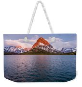 Swiftcurrent Lake At Dawn Weekender Tote Bag