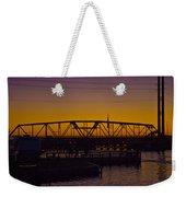Swing Bridge Sunset Weekender Tote Bag