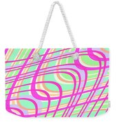 Swirly Check Weekender Tote Bag
