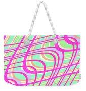 Swirly Check Weekender Tote Bag