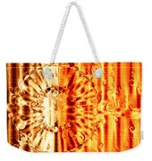 Swirly Embossed Gold Weekender Tote Bag