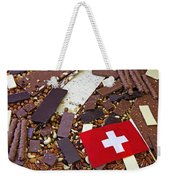 Swiss Chocolate Weekender Tote Bag by Joana Kruse