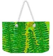 Sword Fern Fossil-green Weekender Tote Bag