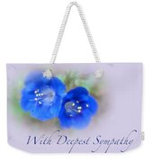 Sympathy Card - Blue Wildflower Weekender Tote Bag