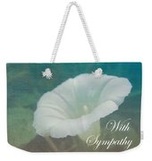 Sympathy Greeting Card - Wild Morning Glory - Bindweed Weekender Tote Bag