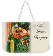 Sympathy Greeting Card - Wildflower Turk's Cap Lily Weekender Tote Bag