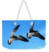 Synchronized Flying Weekender Tote Bag
