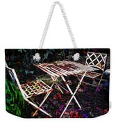 Table And Chairs Weekender Tote Bag by Joan  Minchak