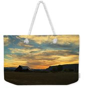 Table Rock Sunset And Barn Weekender Tote Bag