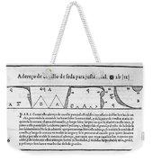Tailors Pattern Book, 1589 Weekender Tote Bag