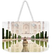 Taj Mahal On The Vertical Weekender Tote Bag