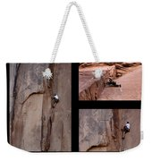 Take Action With Caption Weekender Tote Bag