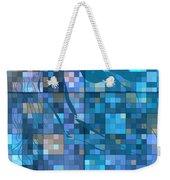 Take Me Geometric Blue Weekender Tote Bag