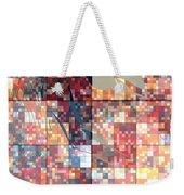 Take Me Geometric Red Weekender Tote Bag