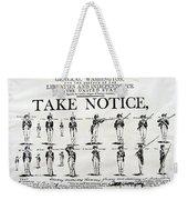Revolutionary War  Take Notice  Weekender Tote Bag