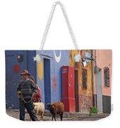 Taking Sheep To Market At Chichicastenango Weekender Tote Bag