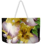 Tall Bearded Iris Named Butterfingers Weekender Tote Bag