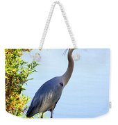 Tall Grey Heron Weekender Tote Bag