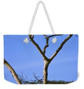 Tall Serengeti Tree And Baboon Weekender Tote Bag