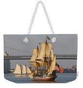 Tall Ship Five Weekender Tote Bag