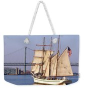 Tall Ship Three Weekender Tote Bag