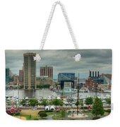 Tall Ships At Baltimore Inner Harbor Weekender Tote Bag