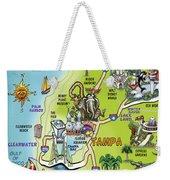 Tampa Florida Cartoon Map Weekender Tote Bag