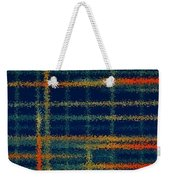 Tangerine Plaid Weekender Tote Bag by Bonnie Bruno