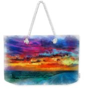Taos Sunset Iv Watercolor Weekender Tote Bag