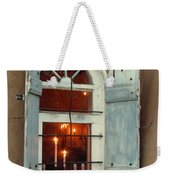 Taos Window With Candlelight Weekender Tote Bag