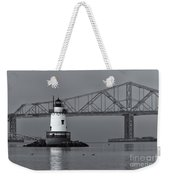 Tarrytown Lighthouse And Tappan Zee Bridge Viii Weekender Tote Bag by Clarence Holmes