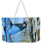 Tattered Paper On A Bulletin Board No.1045 Weekender Tote Bag