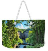 Taughannock Falls Overlook Weekender Tote Bag